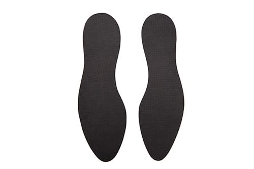 3 Iron corrugated rubber sole (heel to toe)